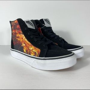 Vans Sk8-Hi Zip Dragon Black True White Sneakers